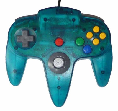 N64 Official Controller (Clear Blue) - N64