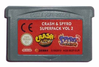 Crash & Spyro Super Pack Volume 2: Crash Nitro Kart + Spyro 2: Season of Flame - Game Boy Advance