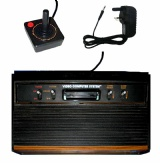 Atari 2600 Console + 1 Controller (CX2600-A 4-Switch Woody Version)