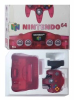N64 Console + 1 Controller (Watermelon Red) (Boxed)