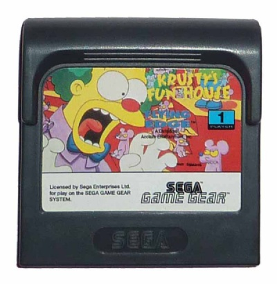 The Simpsons: Krusty's Funhouse - Game Gear