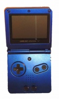 Game Boy Advance SP Console (Blue) (AGS-001)