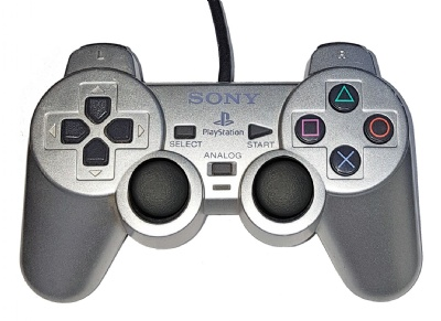 PS2 Official DualShock 2 Controller (Silver) - Playstation 2