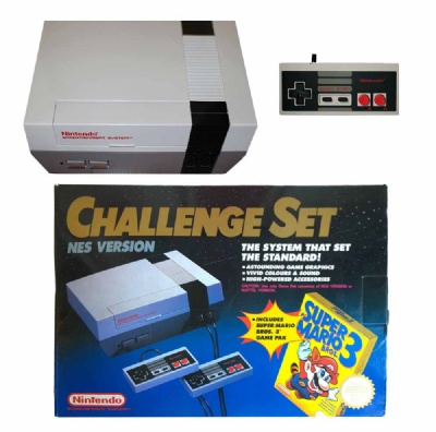 NES Console + 1 Controller (NESE-001) (Boxed) (Challenge Set) - NES
