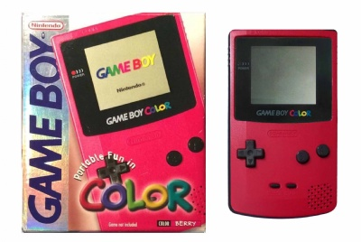 Game Boy Color Console (Berry Red) (CGB-001) (Boxed) - Game Boy