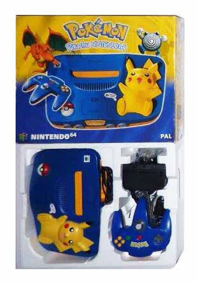 N64 Console + 1 Controller (Pikachu) (Boxed) - N64