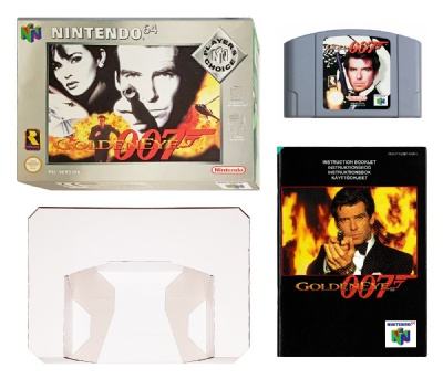 007: Goldeneye (Player's Choice) (Boxed with Manual) - N64