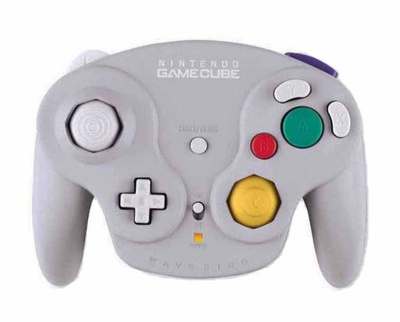 Gamecube Official Wavebird Wireless Controller (Grey) (Excludes Receiver) - Gamecube