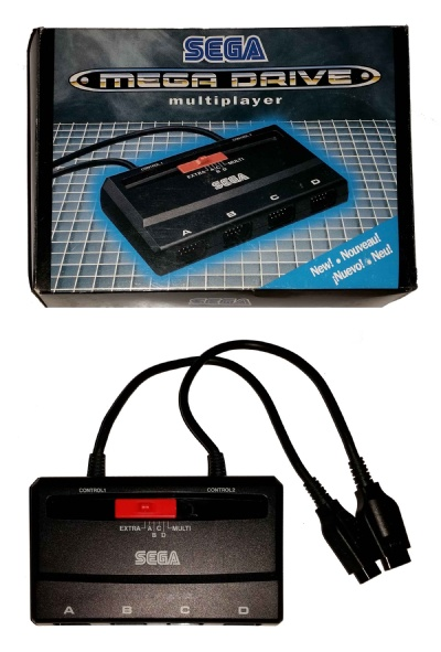 Mega Drive Official Four-Player Adaptor (Boxed) - Mega Drive