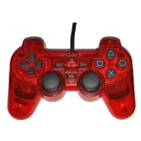 PS2 Official DualShock 2 Controller (Transparent Red)