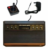 Atari 2600 Console + 1 Controller (CX2600 6-Switch Woody Version)
